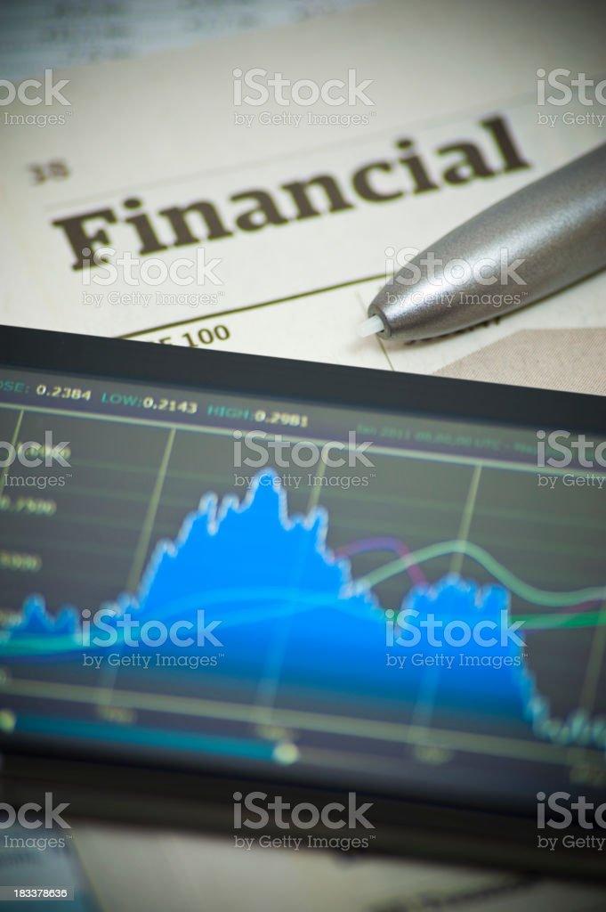 Financial Market Analysis stock photo