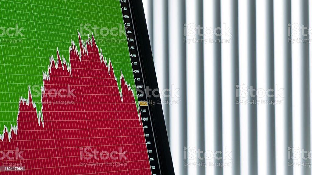 financial market flow chart XXL stock photo