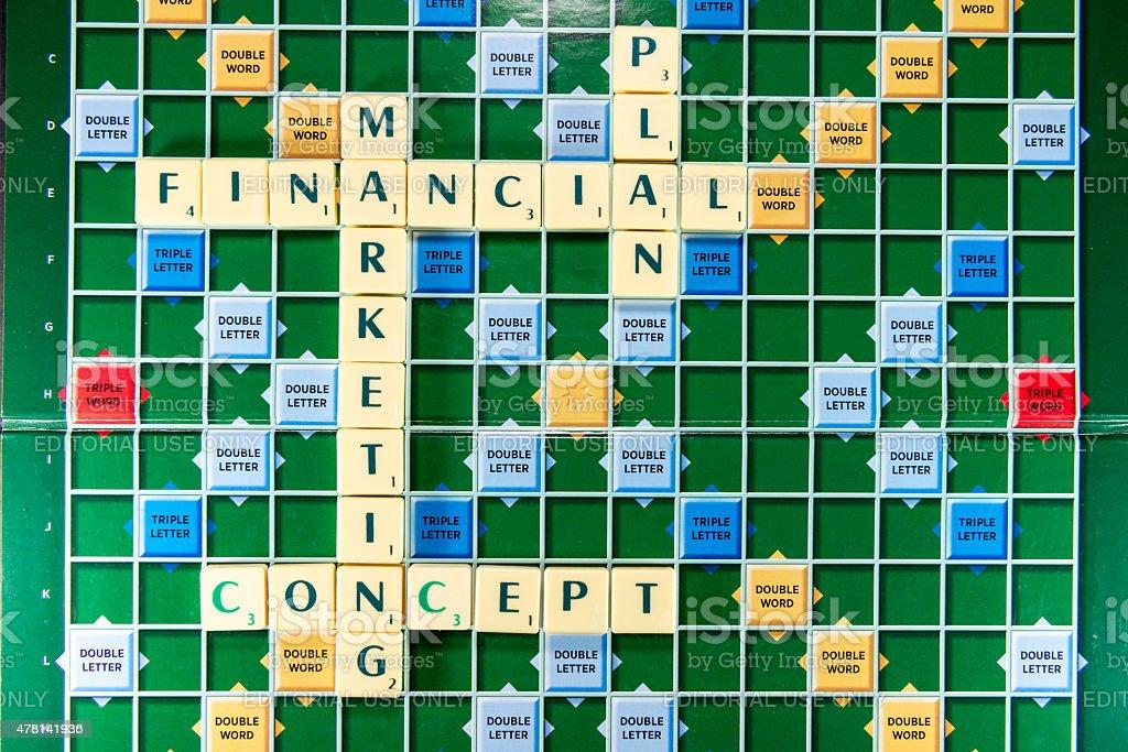 financial marketing plan stock photo