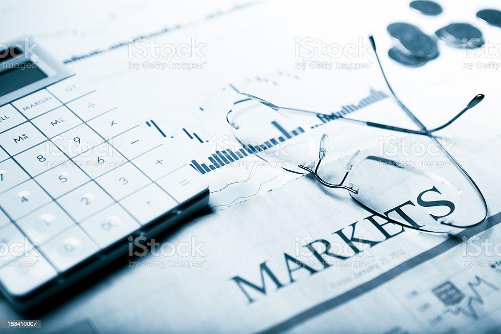 Financial markets stock photo