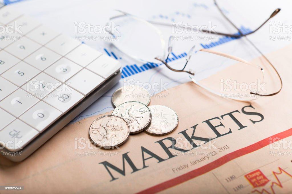 Financial markets royalty-free stock photo