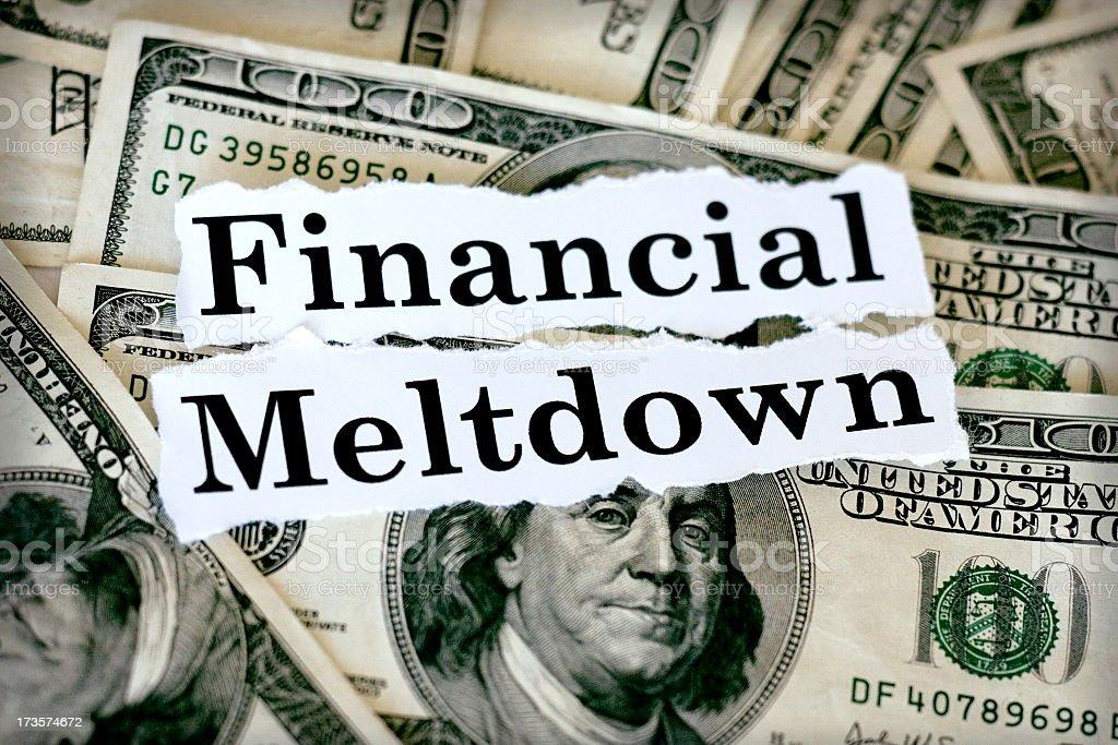 financial meltdown stock photo