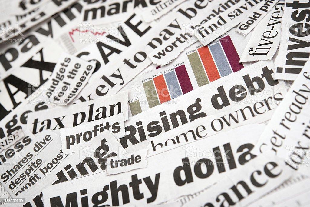 Financial News royalty-free stock photo