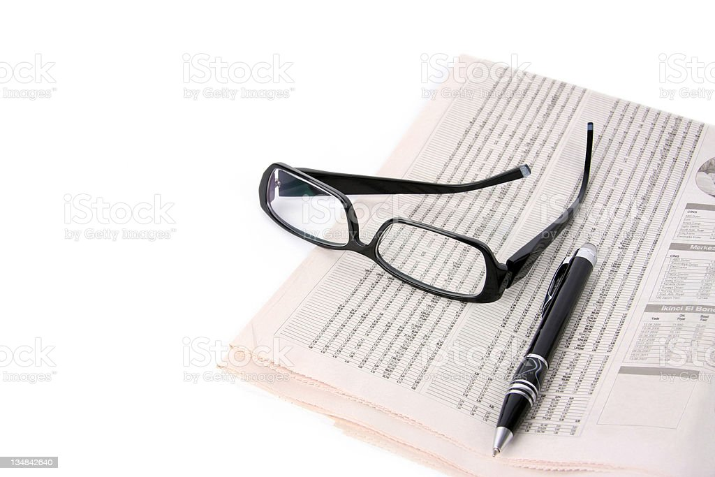 Financial Newspaper royalty-free stock photo