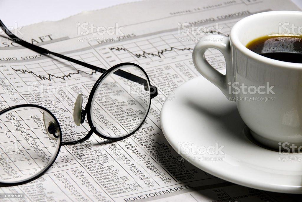 Financial Newspaper stock photo