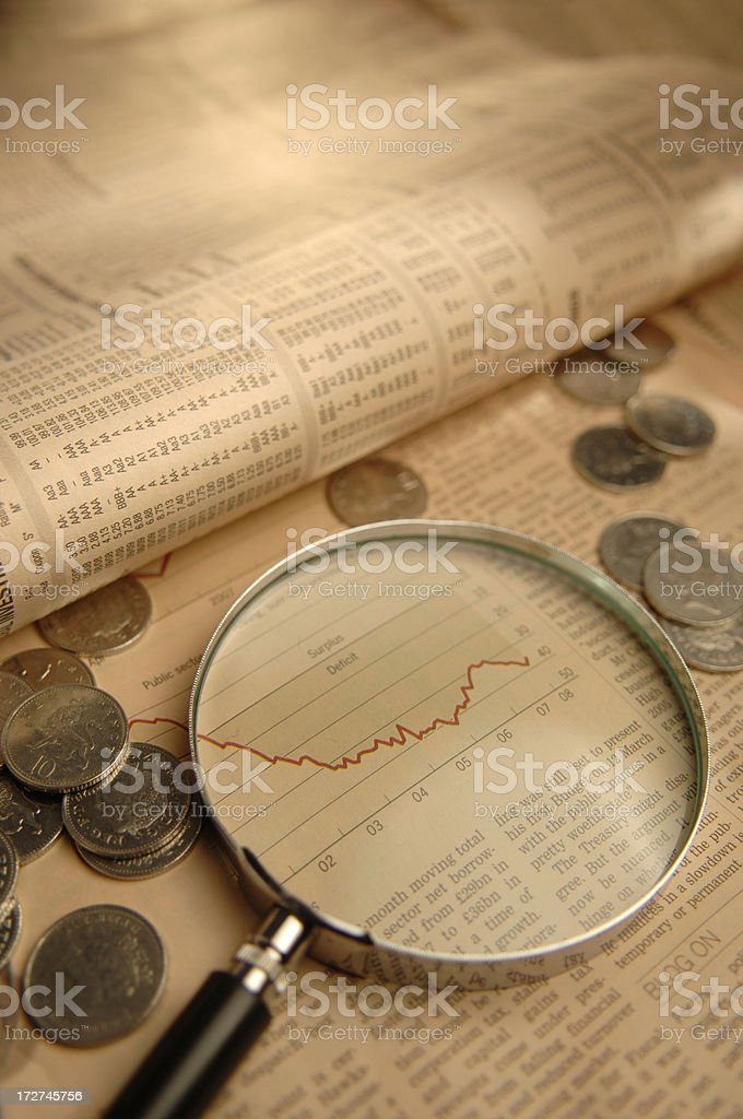 financial newspapers series royalty-free stock photo