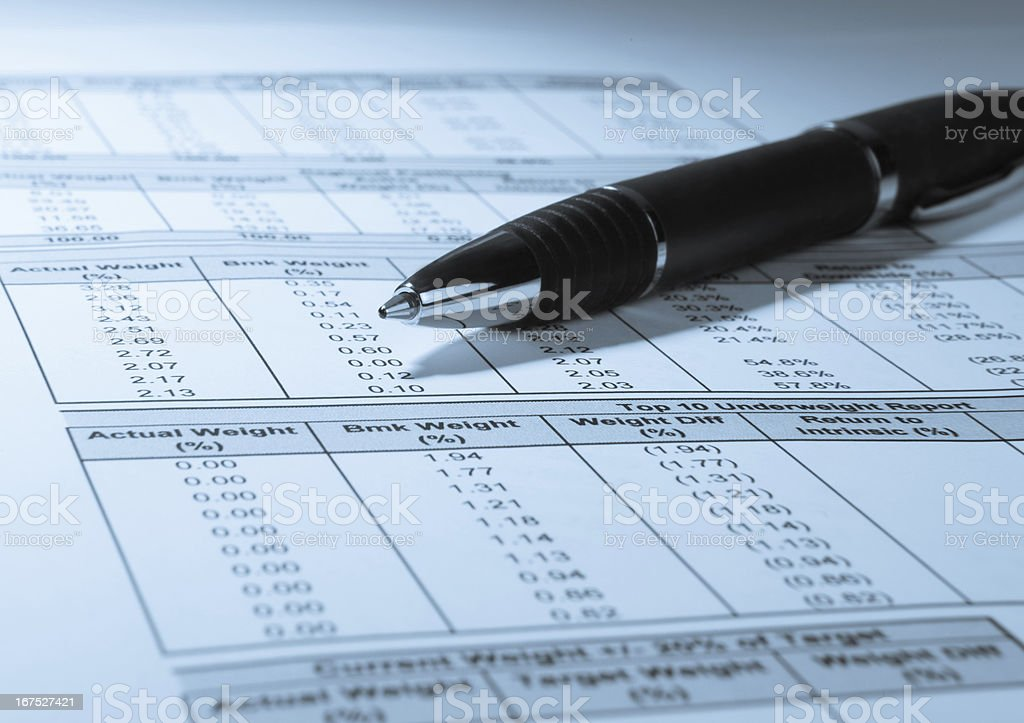 Financial Numbers and Pen royalty-free stock photo