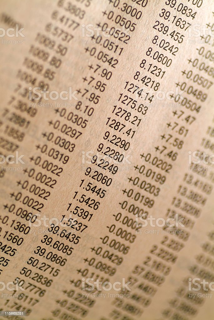 Financial numbers royalty-free stock photo