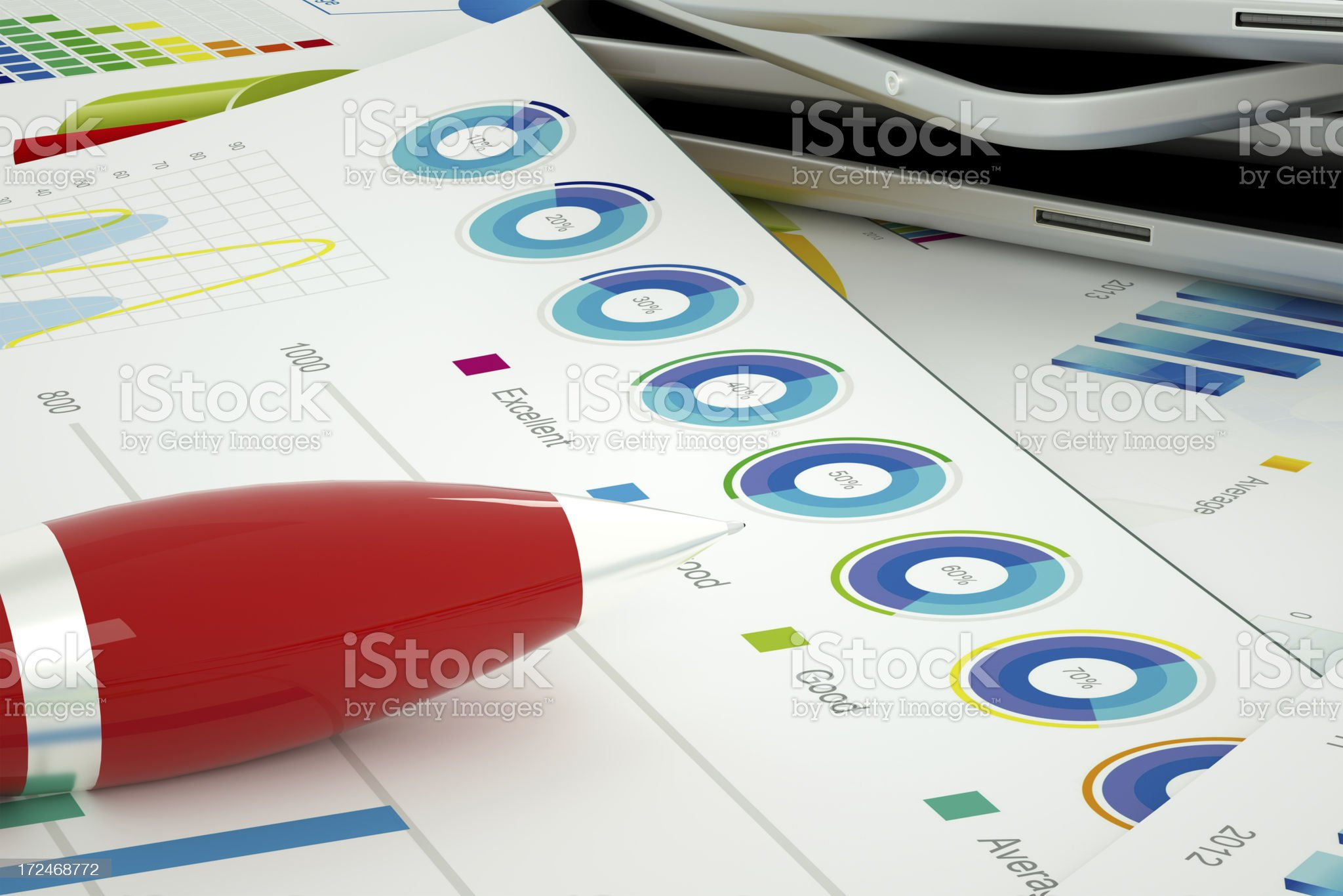 Financial office work royalty-free stock photo