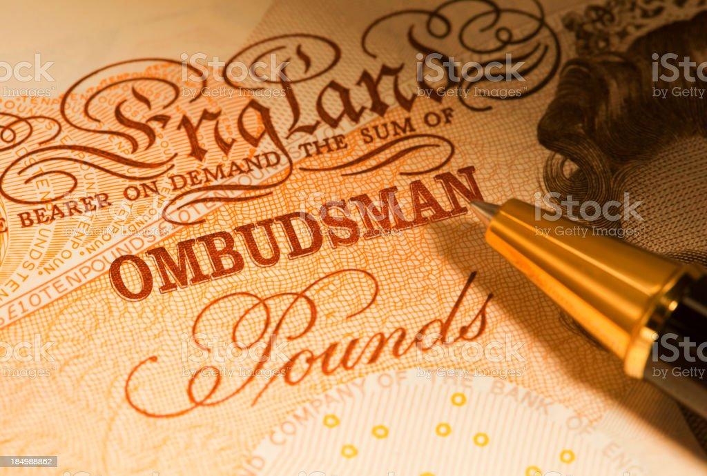 Financial Ombudsman royalty-free stock photo
