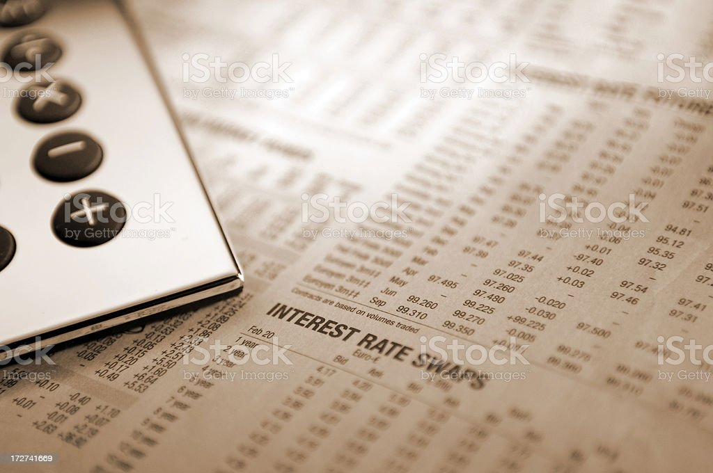 financial paper series with numbers stock photo