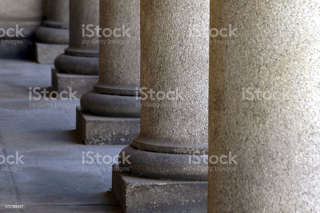 financial perspective pillars royalty-free stock photo