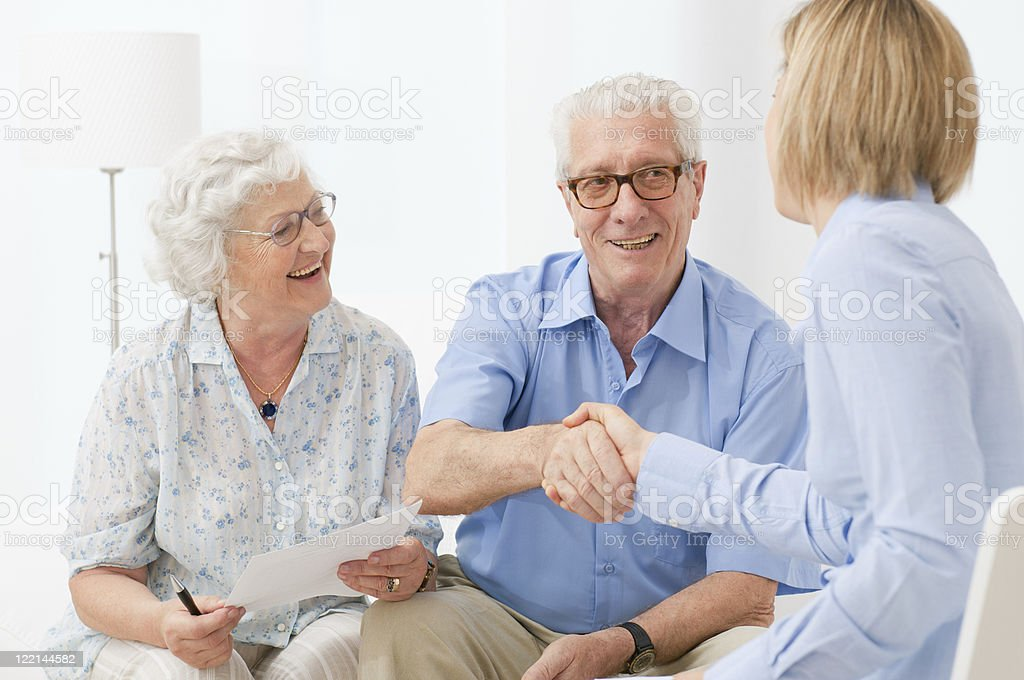 Financial plan for retirement royalty-free stock photo