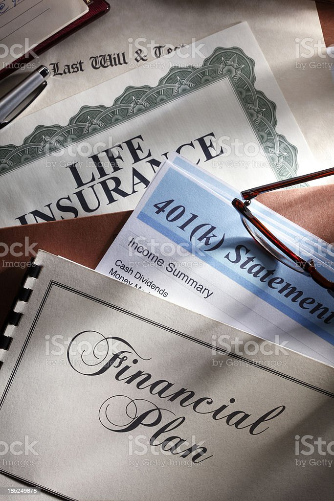 Financial Plan royalty-free stock photo