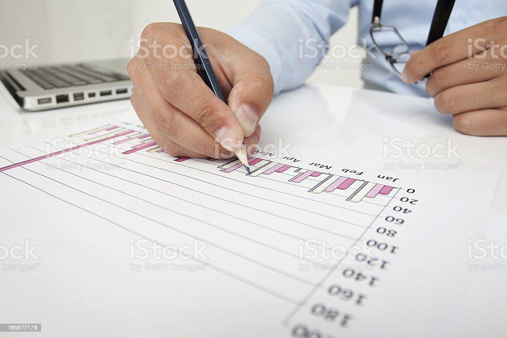 Financial Plan royalty-free stock photo