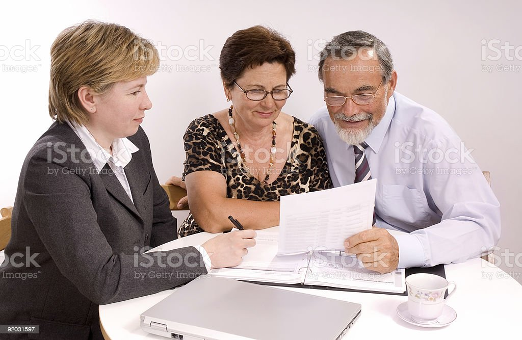 financial planner royalty-free stock photo