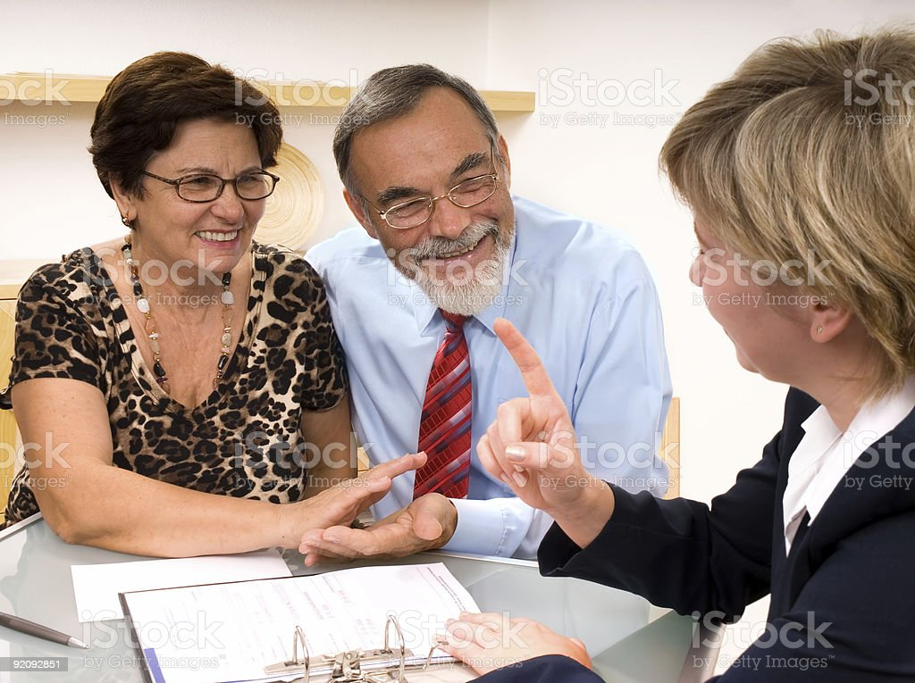 financial planner stock photo