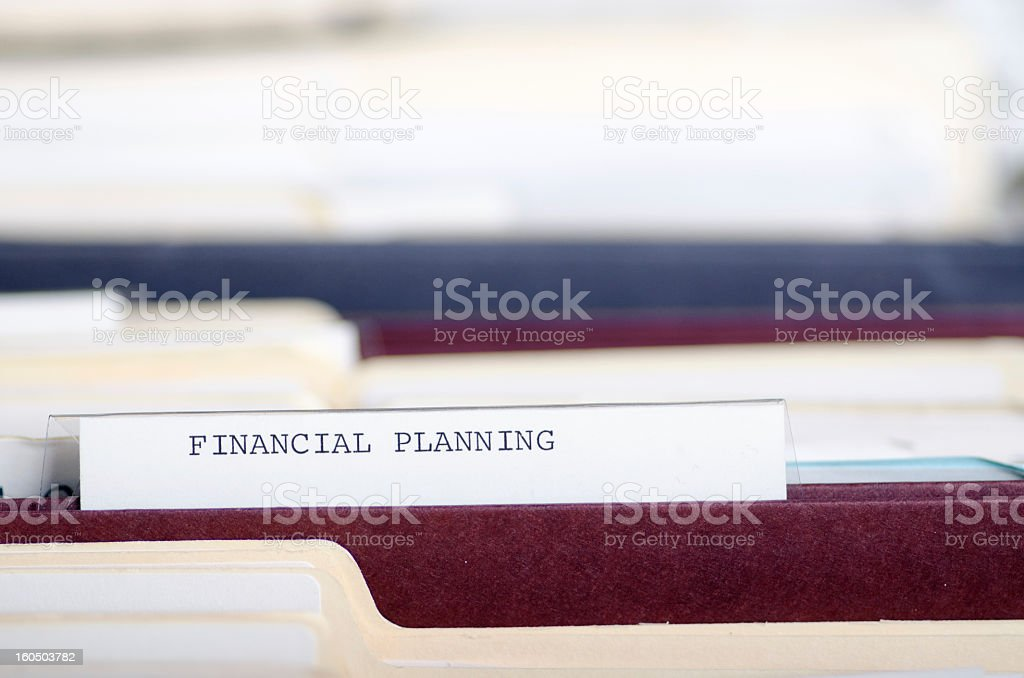 Financial Planning File Folder royalty-free stock photo