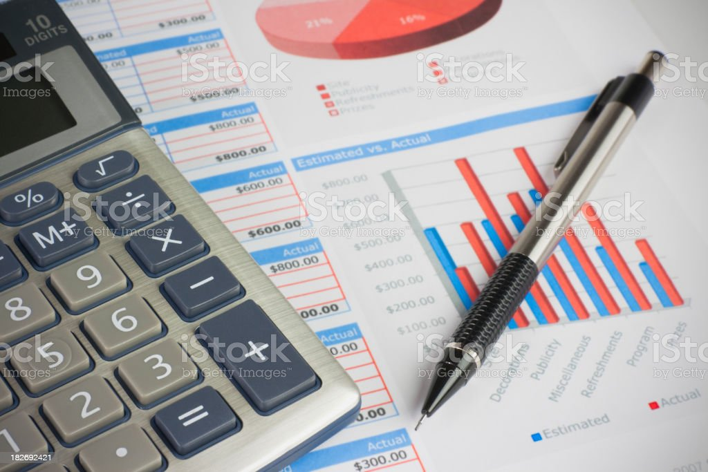Financial Planning For Success royalty-free stock photo