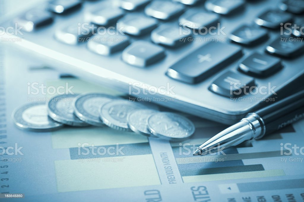 Financial Planning royalty-free stock photo