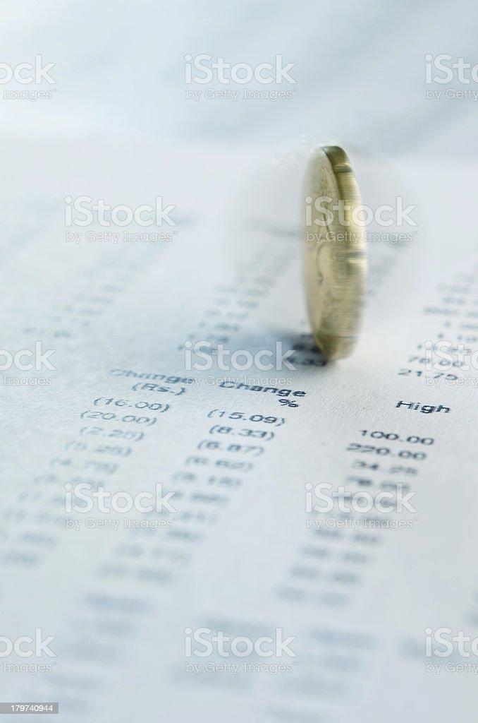Financial prediction royalty-free stock photo