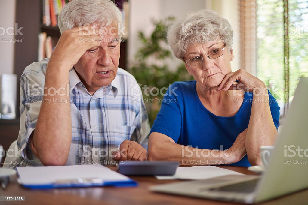 Financial problem is a very serious problem stock photo