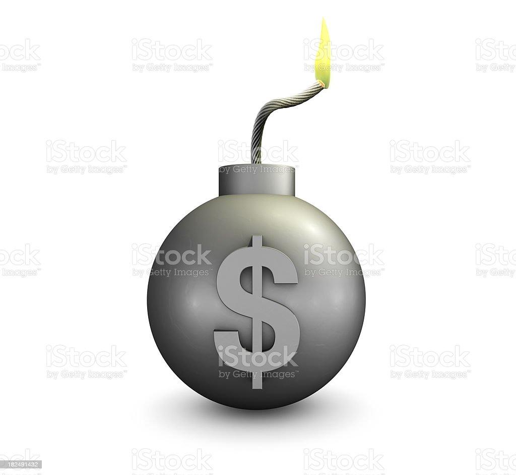 Financial Problems - Dollar Bomb royalty-free stock photo
