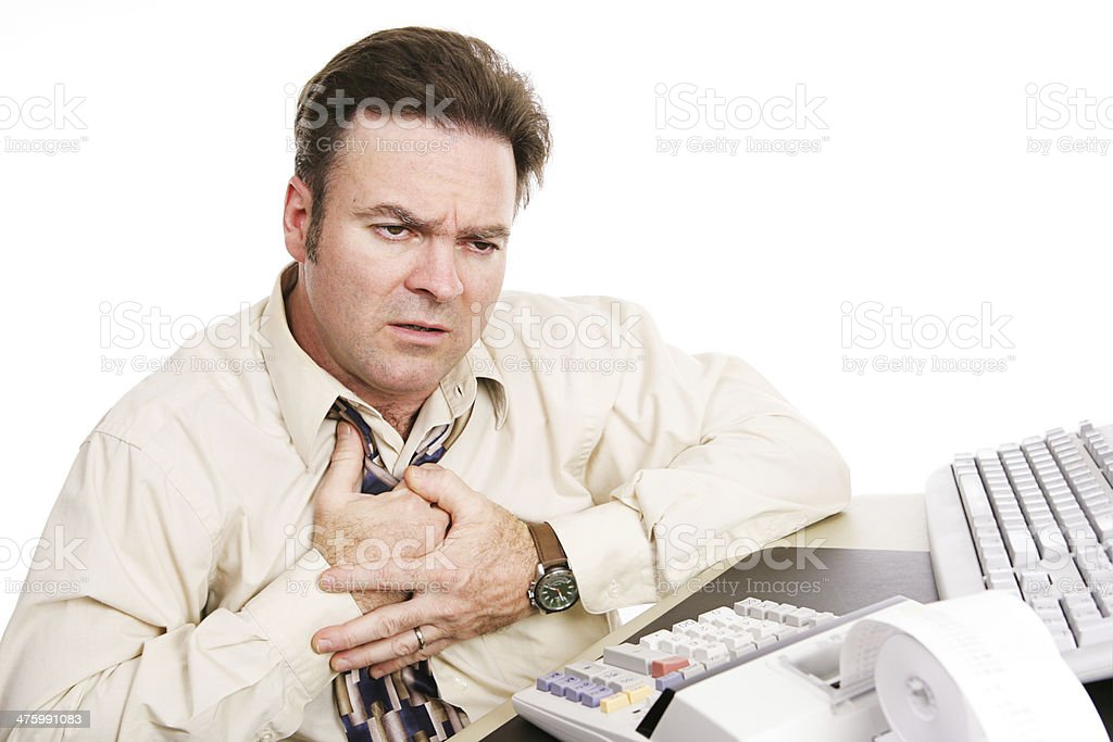 Financial Problems - Indigestion or Heart Attack stock photo