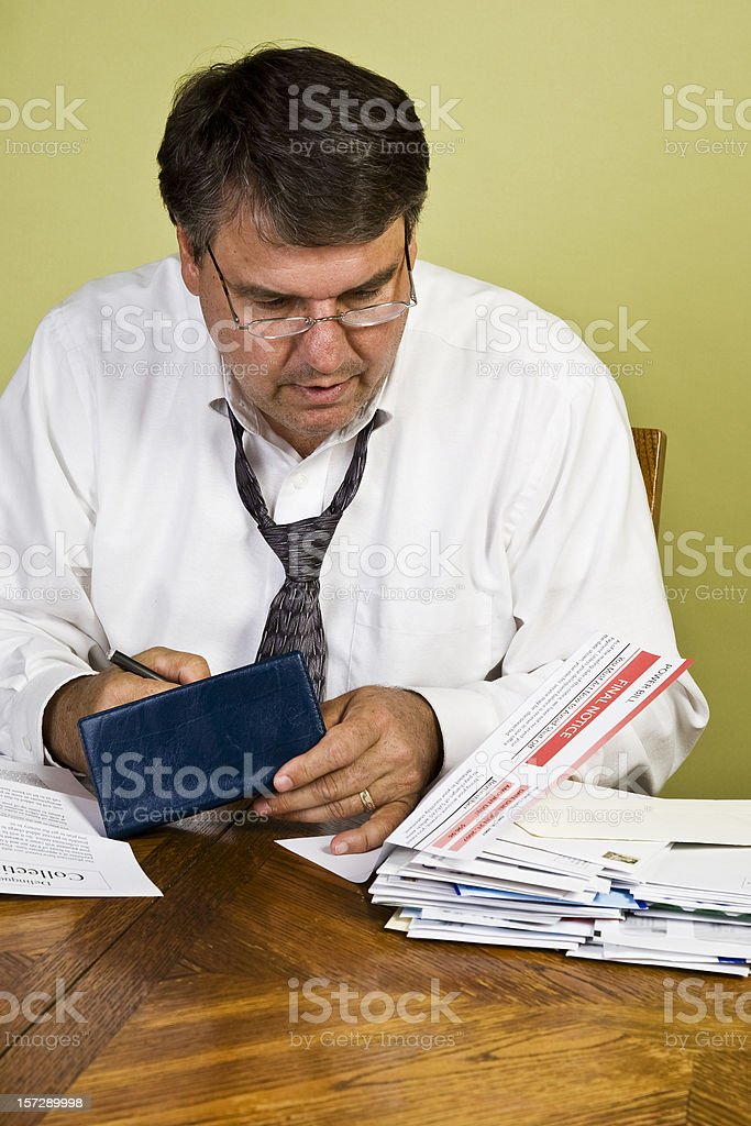 Financial Problems. royalty-free stock photo