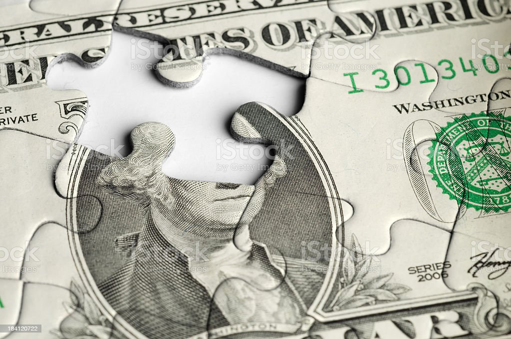 Financial Puzzle stock photo