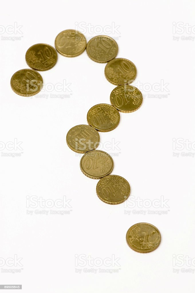 Financial question stock photo