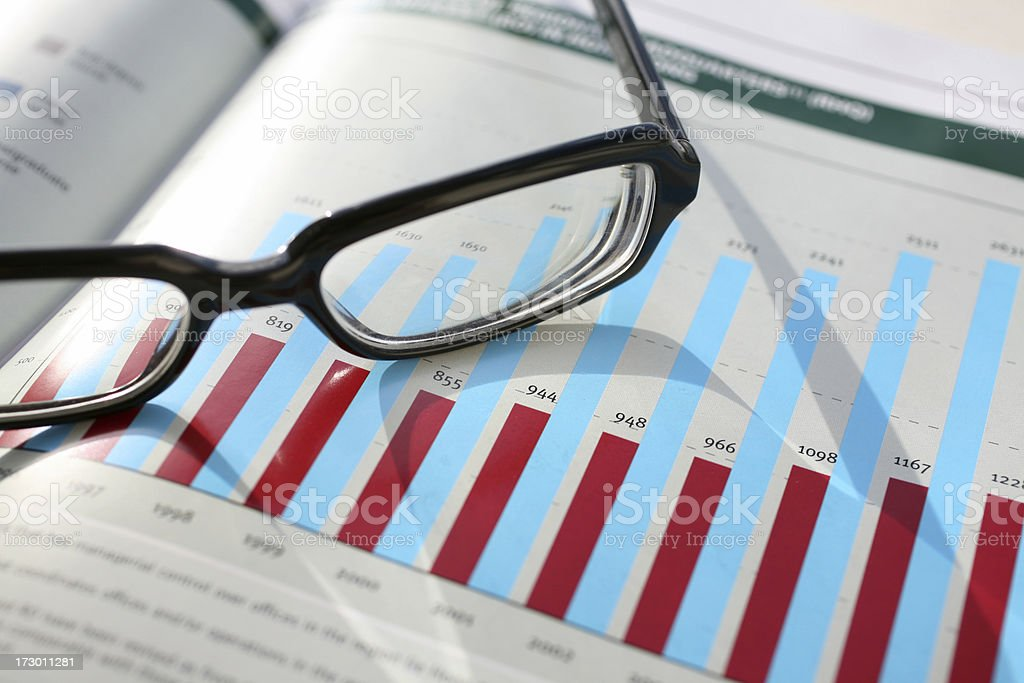 Financial Reading royalty-free stock photo