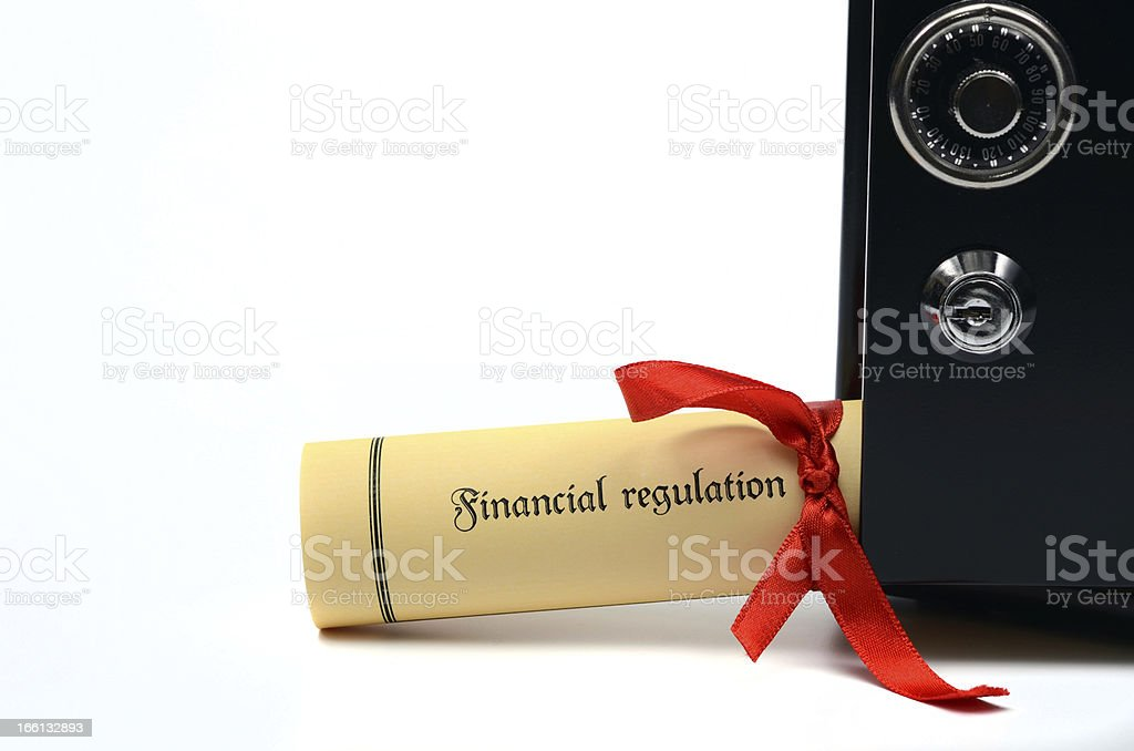 Financial regulation and steel safe royalty-free stock photo