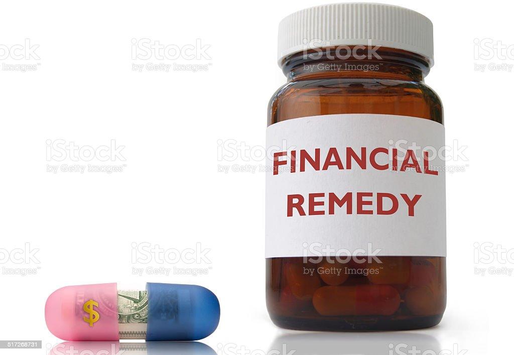Financial remedy concept stock photo