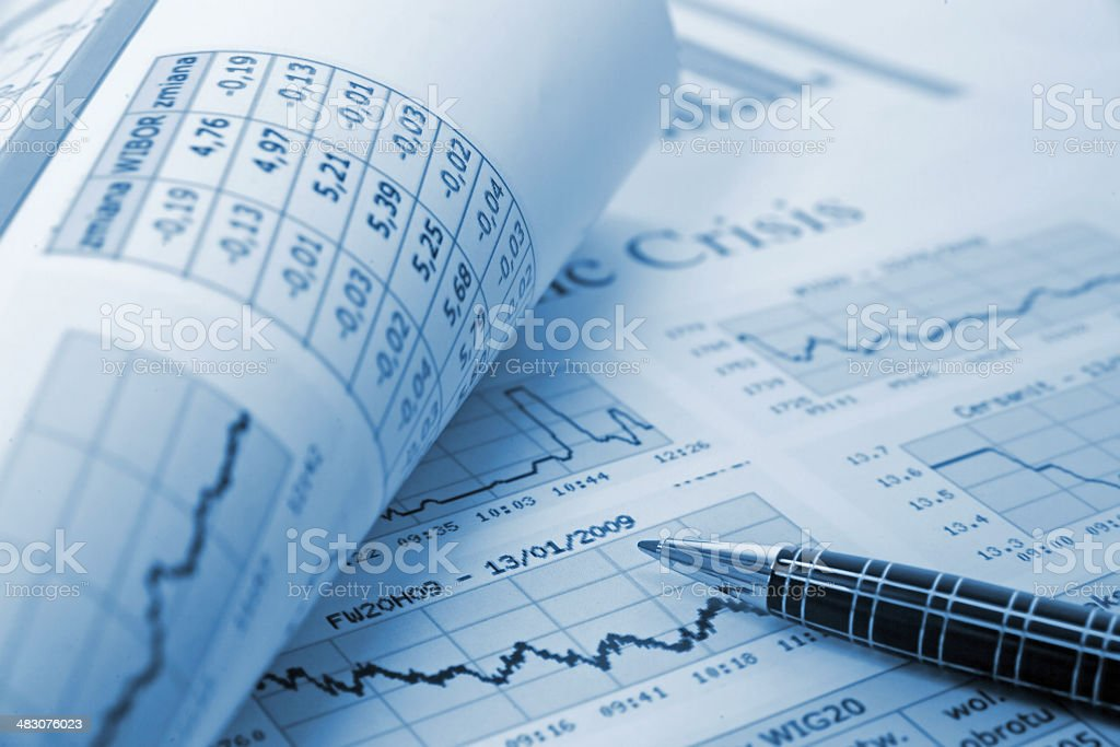 Financial Report  blue royalty-free stock photo
