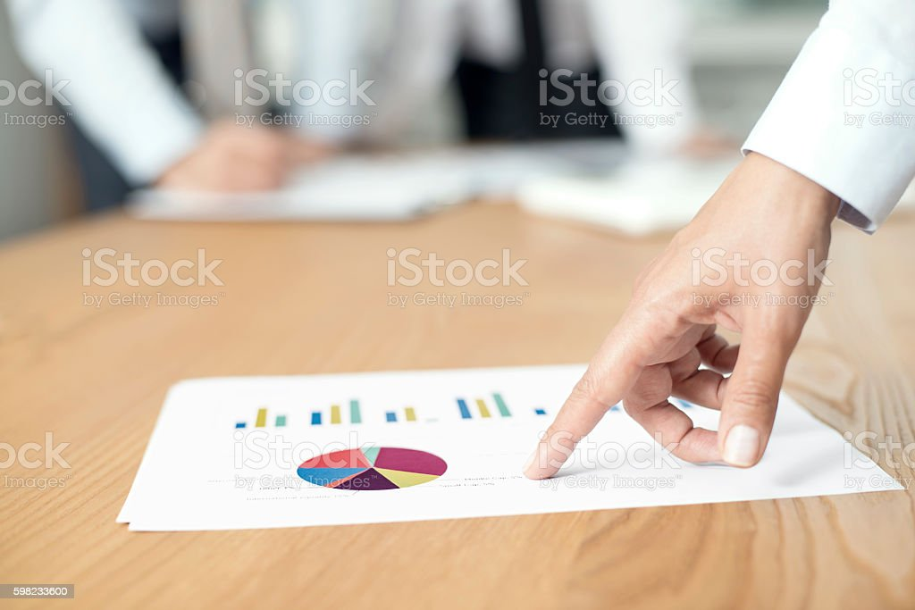 Financial Report Meeting stock photo