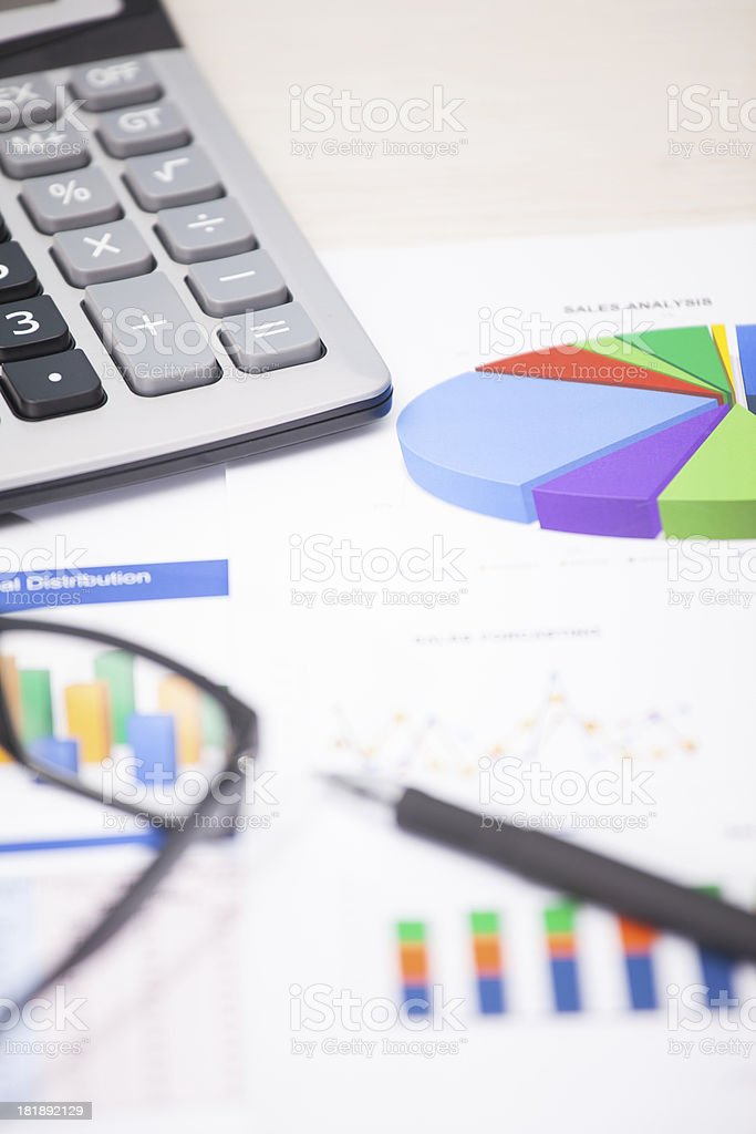 Financial report on the desk royalty-free stock photo