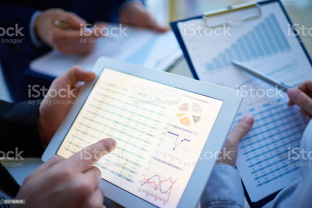 Financial report stock photo