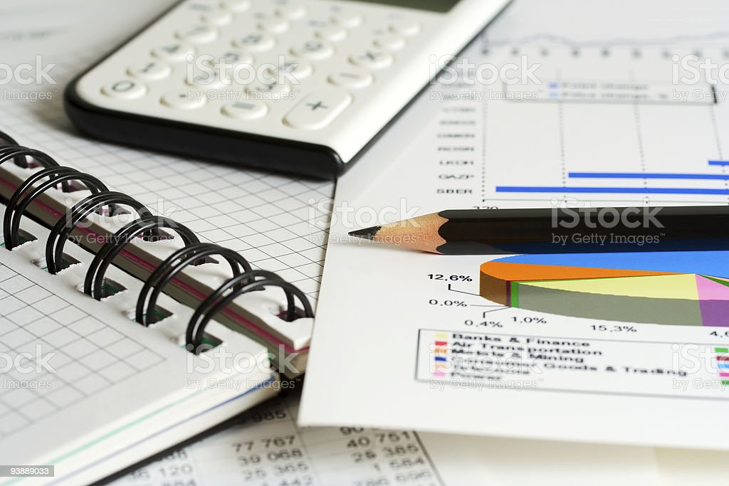 Financial reports royalty-free stock photo