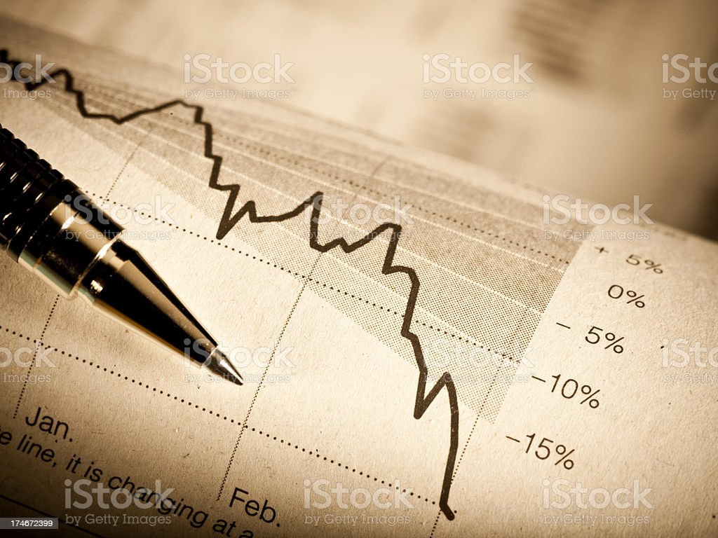 Financial research royalty-free stock photo