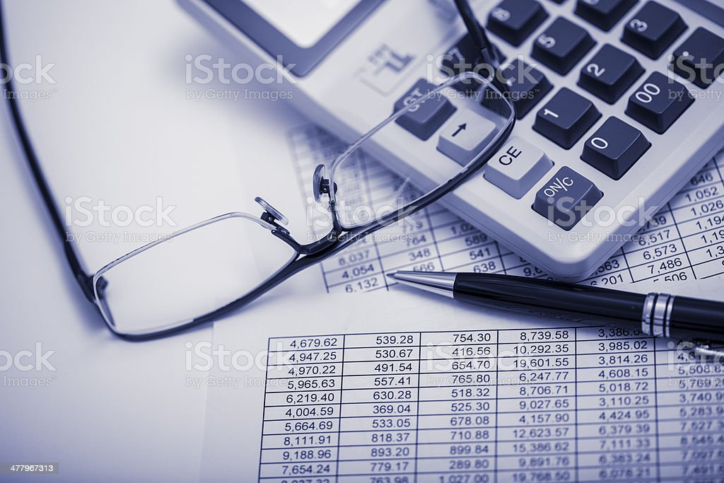 financial results royalty-free stock photo