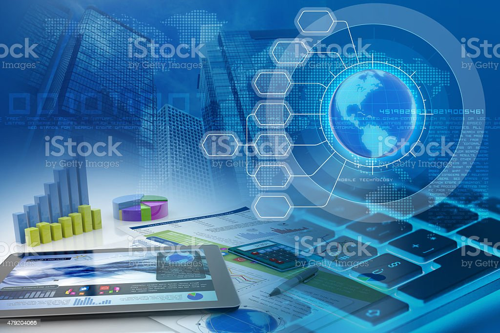 financial review stock photo