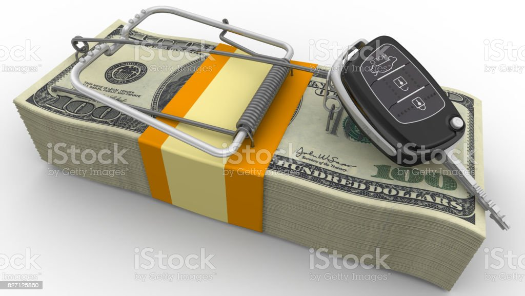 Financial risk when buying a car stock photo