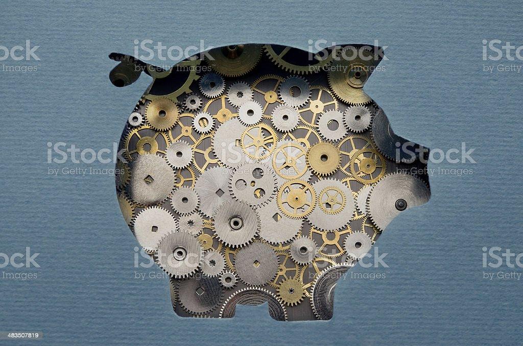 Financial savings mechanism stock photo