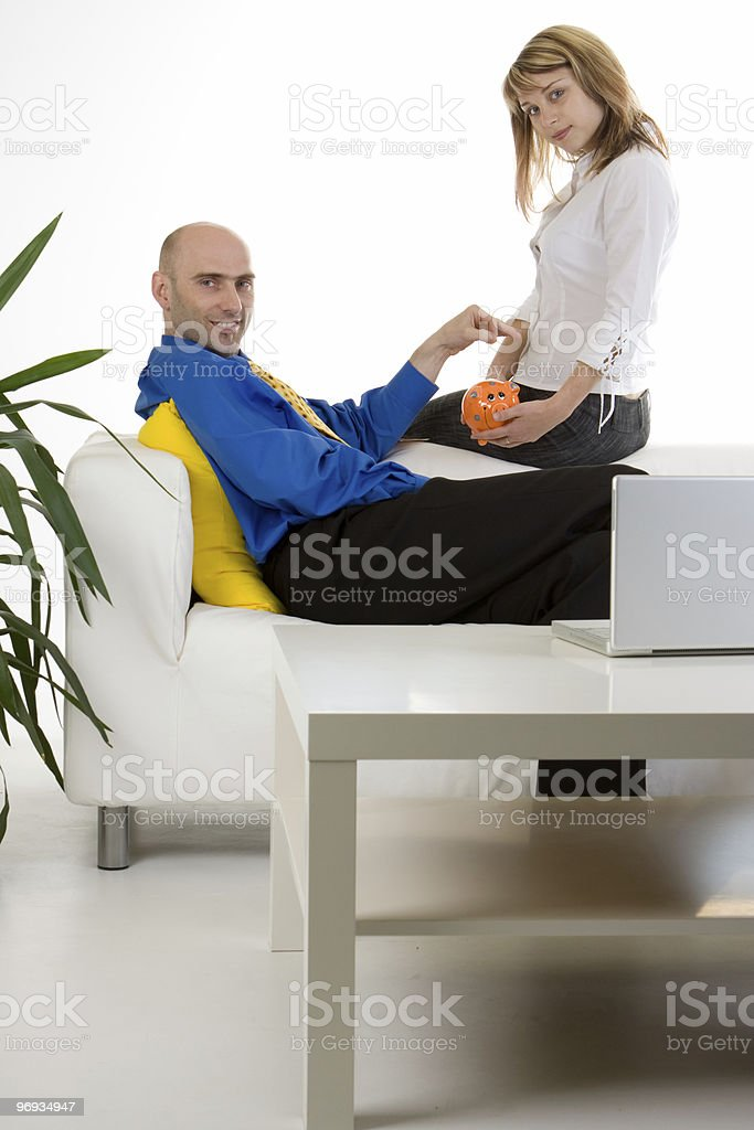 Financial savings stock photo