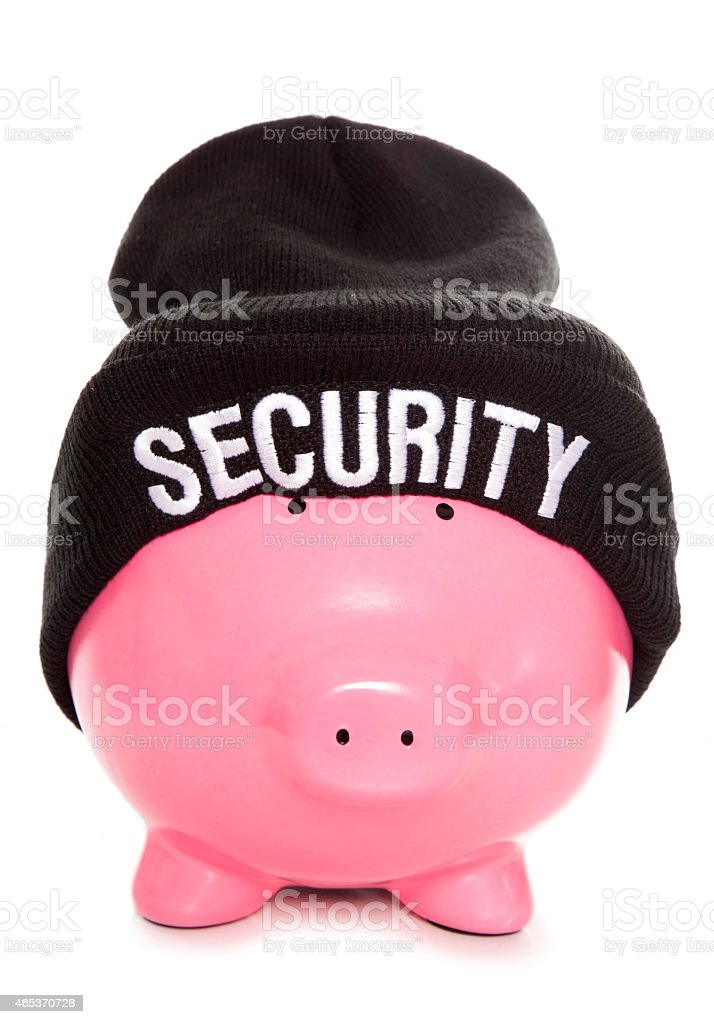 financial security piggy bank stock photo