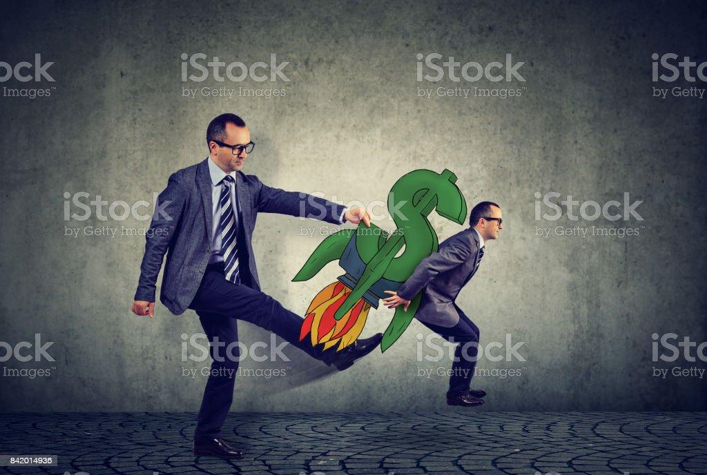 Financial self realization concept stock photo