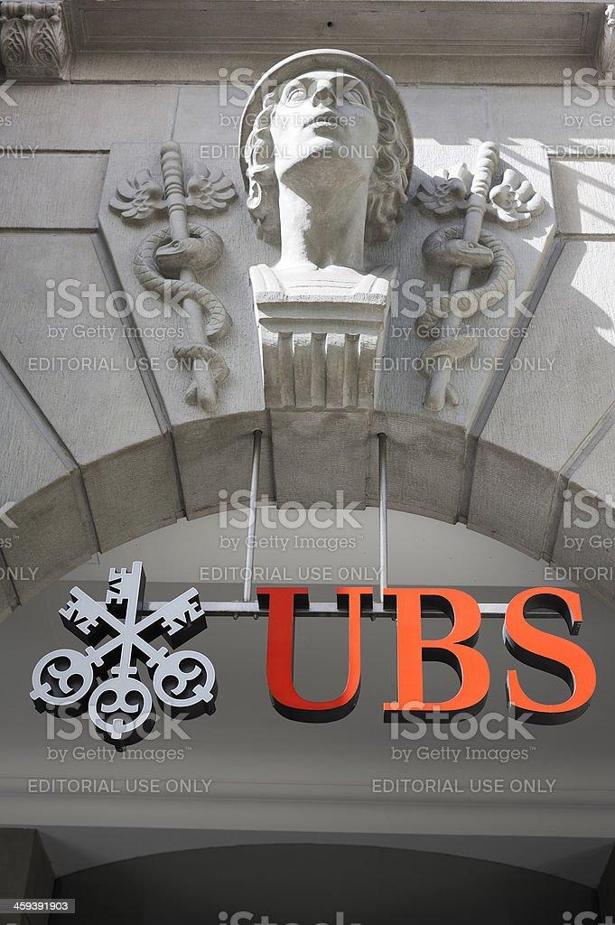 UBS Financial Services in Zurich Switzerland stock photo