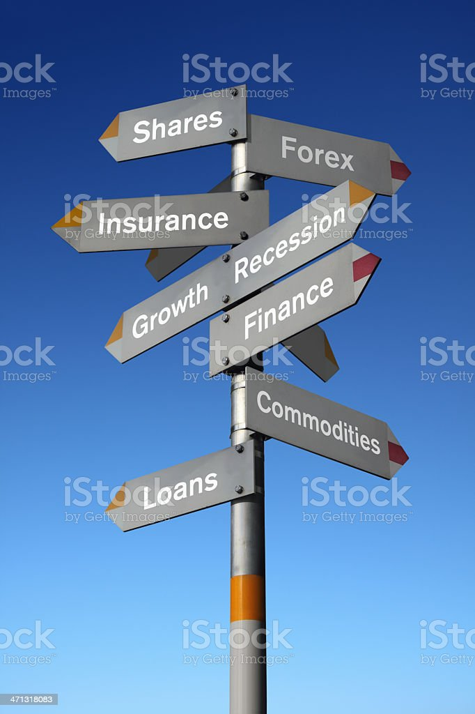Financial Signpost royalty-free stock photo