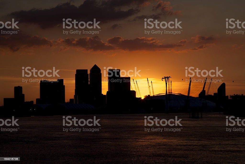 Financial skyscrapers in the City of London royalty-free stock photo